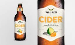 Pip and Peel Cider Packaging Design